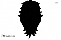 Cowardly Lion With Crown Silhouette Image