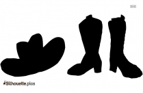 Cowboy Hat And Boots Clipart Free Silhouette