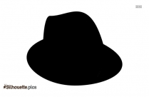Black Sports Hat Silhouette Image
