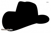 Cowboy Hat Silhouette, Cartoon Hat Symbol