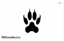 Coyote Footprint Silhouette