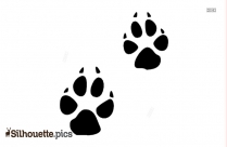 Coyote Footprint Silhouette Clip Art