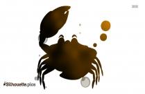 Black Crab Silhouette Image