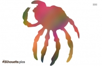 Black And White Crab Cartoon Drawing Silhouette