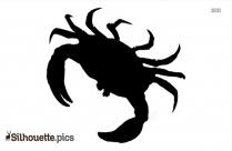 Crab Silhouette Clip Art