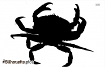 Crab Silhouette Vector Free