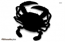 Cartoon Crab Logo Silhouette For Download