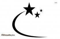 Cracker Shooting Star Silhouette