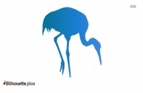 Crane Bird Drawing Silhouette Background