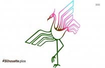 Crane Bird Modern Art Silhouette Vector