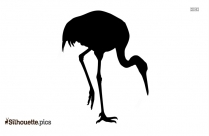 Crane Bird Silhouette Clip Art