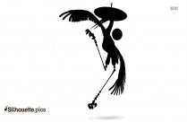 Crane Bird Silhouette Clip Art, Vector
