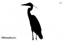 Crane Bird Silhouette Drawing