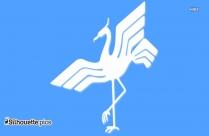 Colorful Crane Bird Silhouette Vector