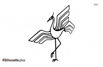 Crane Bird Silhouette Illustration