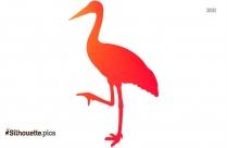 Crane Bird Silhouette Stylized
