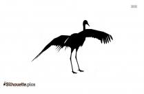 Crane Flying Silhouette
