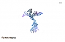 Crane Silhouette Tattoo