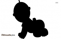 Cartoon Kid Lying Down Silhouette Image