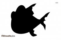 Crazy Fish Silhouette Free Vector Art