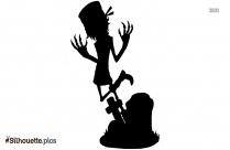 Creepy Halloween Art Silhouette Clipart