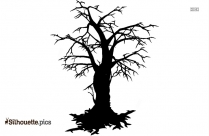 Creepy Tree Vector Silhouette