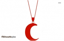 Crescent Moon Necklace Silhouette Picture