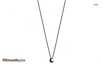 Crescent Moon Necklace Silhouette Art