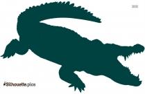 Crocodile Silhouette Image, Alligator Clipart