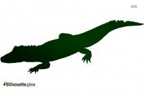 Crocodile Silhouette Image Free Download