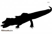 Crocodile Vector Silhouette PNG Image
