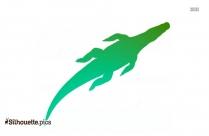 Crocodile Pose Silhouette