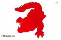 Crocodile Clip Art Silhouette Image
