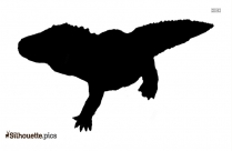 Crocodile Silhouette, Baby Alligator Printable