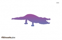 Crocodile Silhouette Illustration