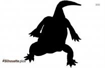 Dwarf Crocodile Cartoon Silhouette