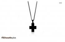 Cross Symbol Silhouette Drawing