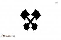 Cross Piston Clip Art Silhouette