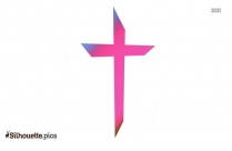 Christian Cross Silhouette Drawing Vector