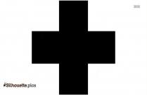 Wrong Cross Symbol Silhouette Art