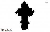Cartoon Catholic Cross Silhouette
