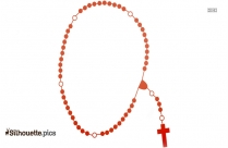Cross With Rosary Silhouette