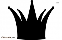 Crown Design Silhouette Clip Art