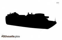 Cargo Ship Front View Silhouette Image