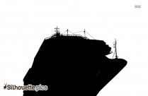 Cruise Ship Silhouette