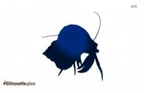 Vector Prawn Fish Silhouette Image
