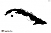 Cuba Map Black And White