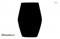 Classic Martini Glass Silhouette Image