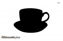 Coffee Cup Silhouette Coffee Bean