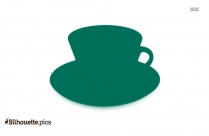 Cup And Saucer Silhouette Drawing